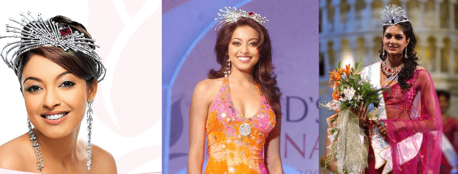 Miss India crowns designed by Pallavi Foley.